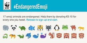 Endagered Emoji Campaign WWF