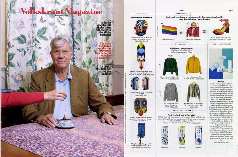 Een spread in Volkskrant Magazine